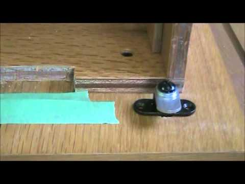 add lock to wooden file cabinet 2