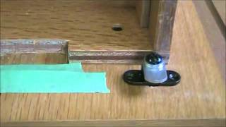 Install A Simple 2 Wing Lock On A Wood Filing Cabinet