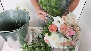 Собираем букет невесты FLOWERS LAB своими руками