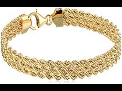 14k Yellow Gold Braided Rope Bracelet Best Gifts For Mothers Day In