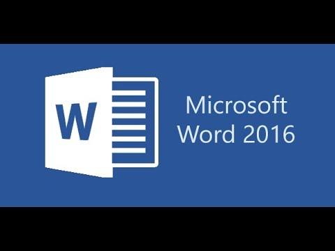 Word 2016 Tutorial for Beginners