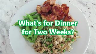 What's For Dinner For Two Weeks +  Recipe Links