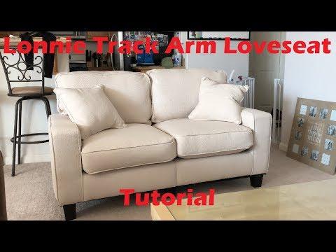 Tutorial: Lonnie Track Arm Loveseat Sold by Wayfair.com