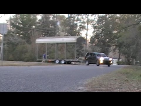 Moving A Carport Youtube