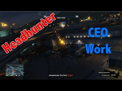 Grand Theft Auto Online CEO WORK - Headhunter in a Savage Helicopter