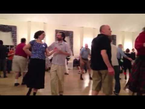 Contra dancing in Glenside with Carl