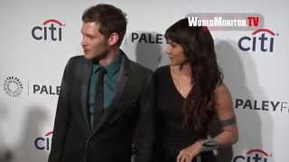 Joseph Morgan and Persia White arrive at PaleyFest 2014
