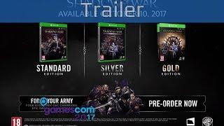 Middle-earth: Shadow of War - Gamescom 2017 Gameplay Trailer [HD]