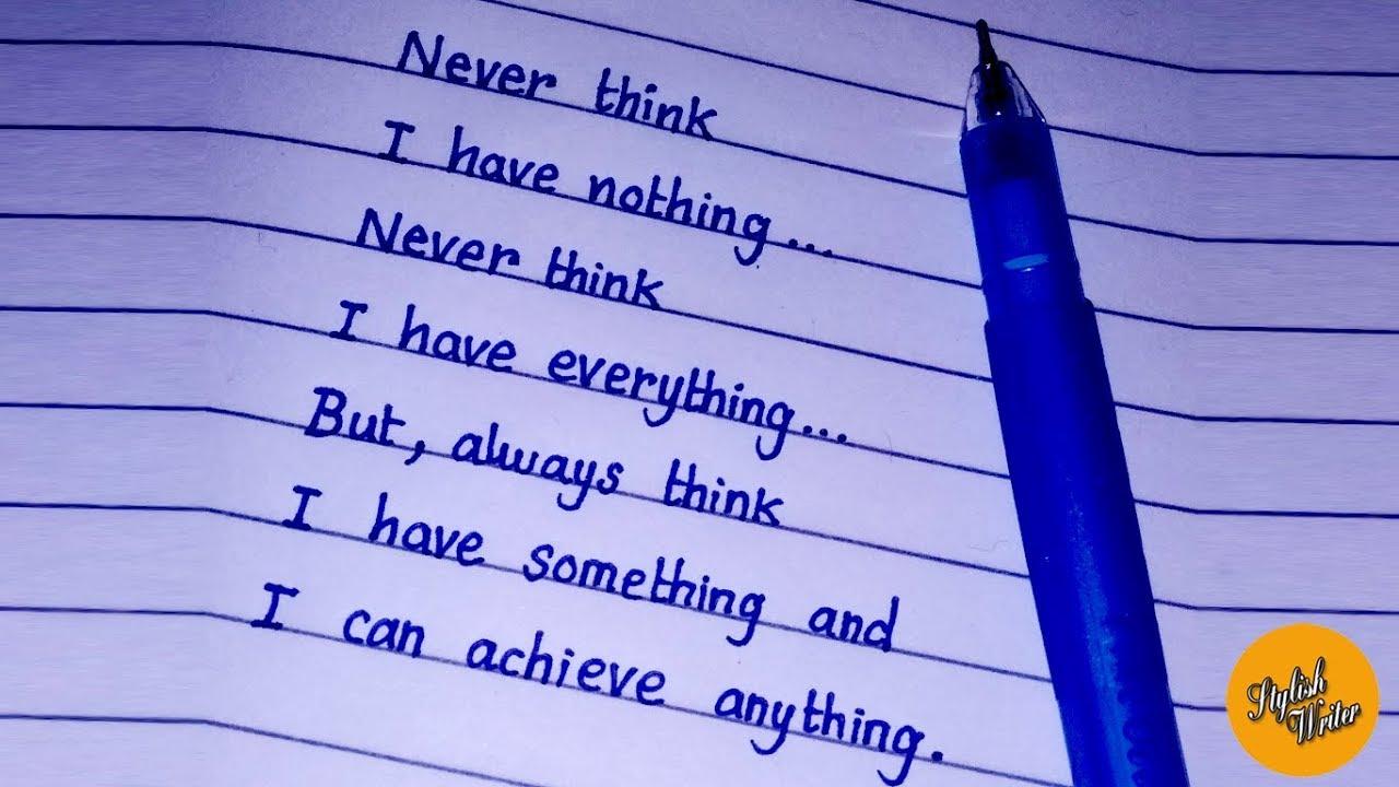 Neatest handwriting  Practice neat handwriting  Handwriting for exams