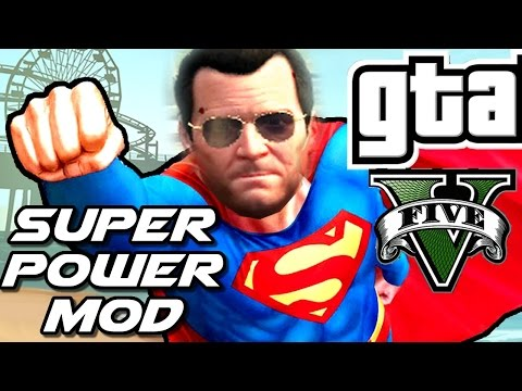 GTA V PC Mod - SUPER POWERS (Flying, Falcon Punch & More)