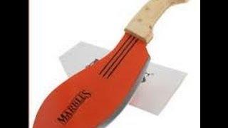 New 13 Marbles Parang Machete Уроки вязания на видео
