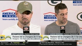 Matt LaFleur & Aaron Rodgers PostGame: Packers fall to Chargers 26-11 for 2nd loss of season