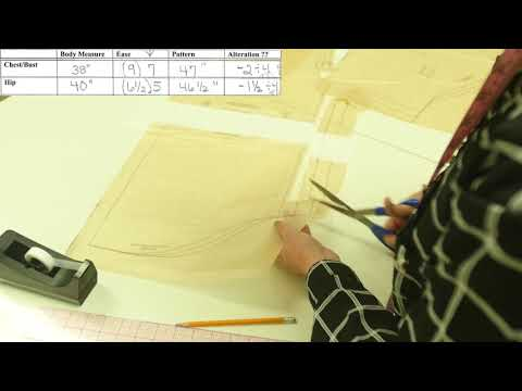 Sewing Lesson: Men's Shirt - Altering Pattern Chest and Hip (5/5)