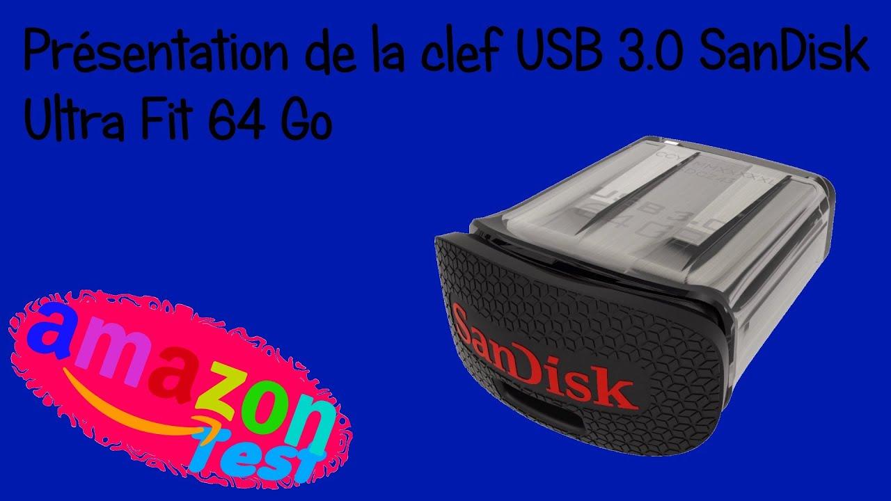 pr sentation clef usb 3 0 sandisk ultra fit 64 go youtube. Black Bedroom Furniture Sets. Home Design Ideas