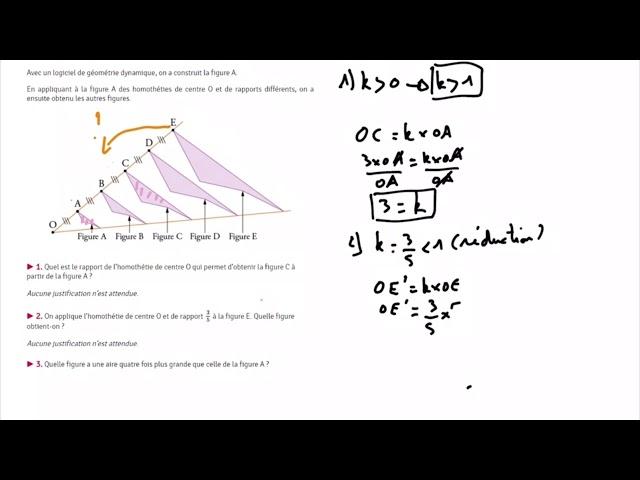 Homothétie et problème du brevet de maths