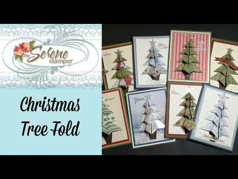 Origami Christmas Tree Fold And How To Cut And Layer Cardstock!