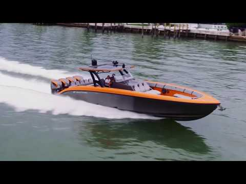 Midnight Express 43' Open Powered By Quad 627 Seven Marine