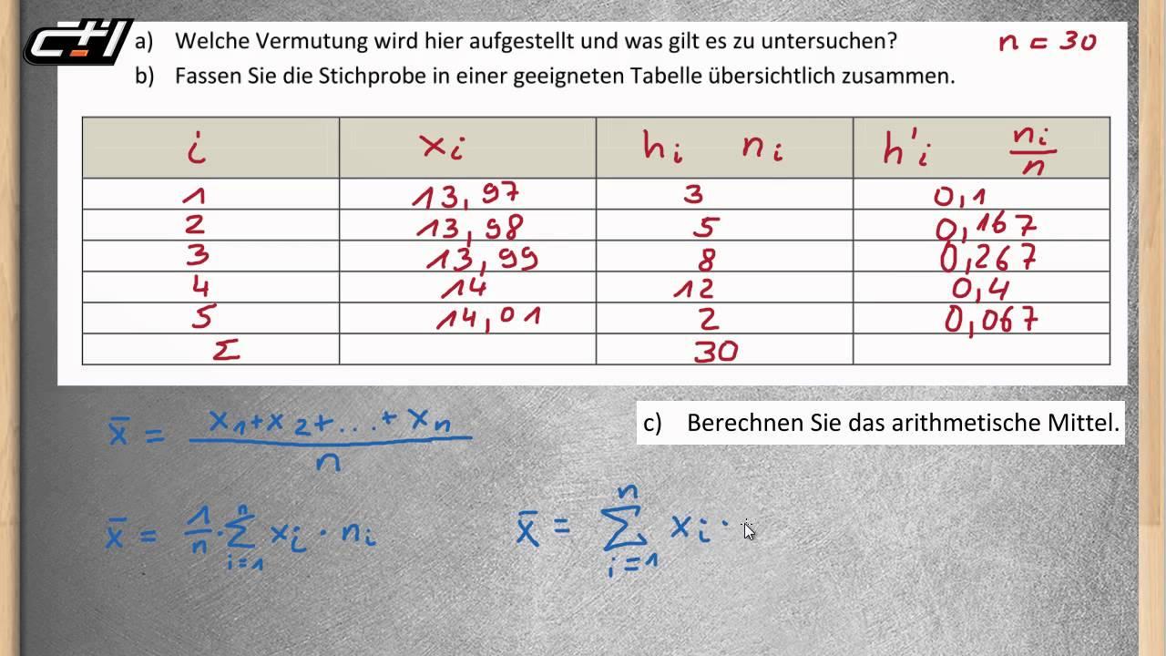 Lageparameter || Beschreibende Statistik ☆ Arithmetischer ...