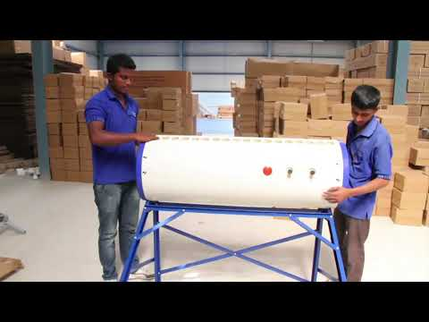 Installation of Supreme Solar Water Heater Systems | Tube Collectors Model