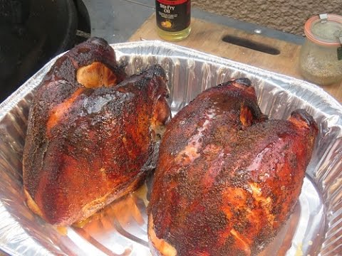 Brined And Smoked Turkey Breasts
