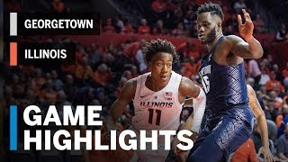 Highlights: Georgetown at Illinois | Big Ten Basketball