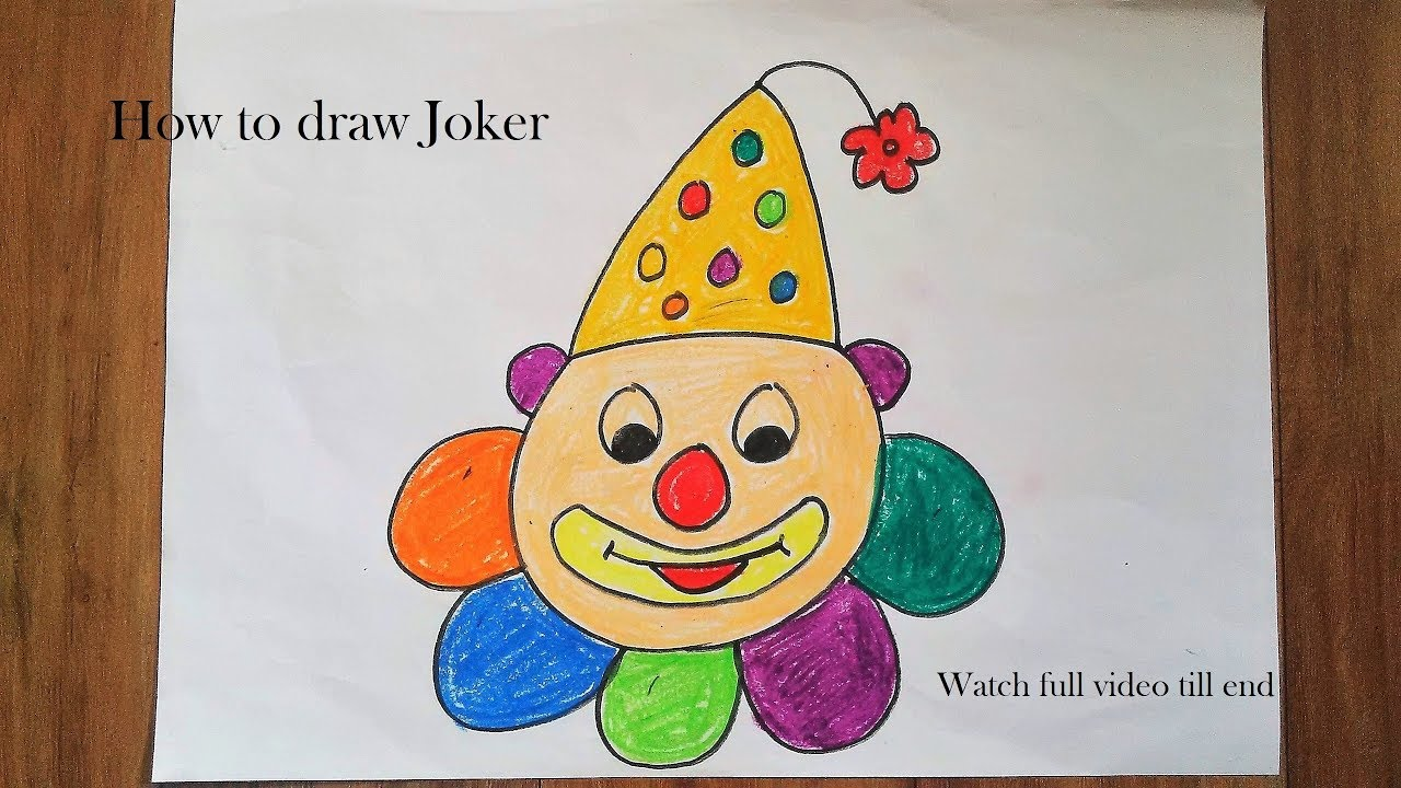 How to draw Joker || Drawing for kids || step by step ...