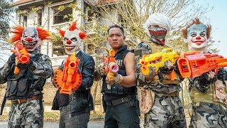 LTT Films : Police Silver Flash Nerf Guns Fight Criminal Group Tiger Mask Silver Haired Assassin