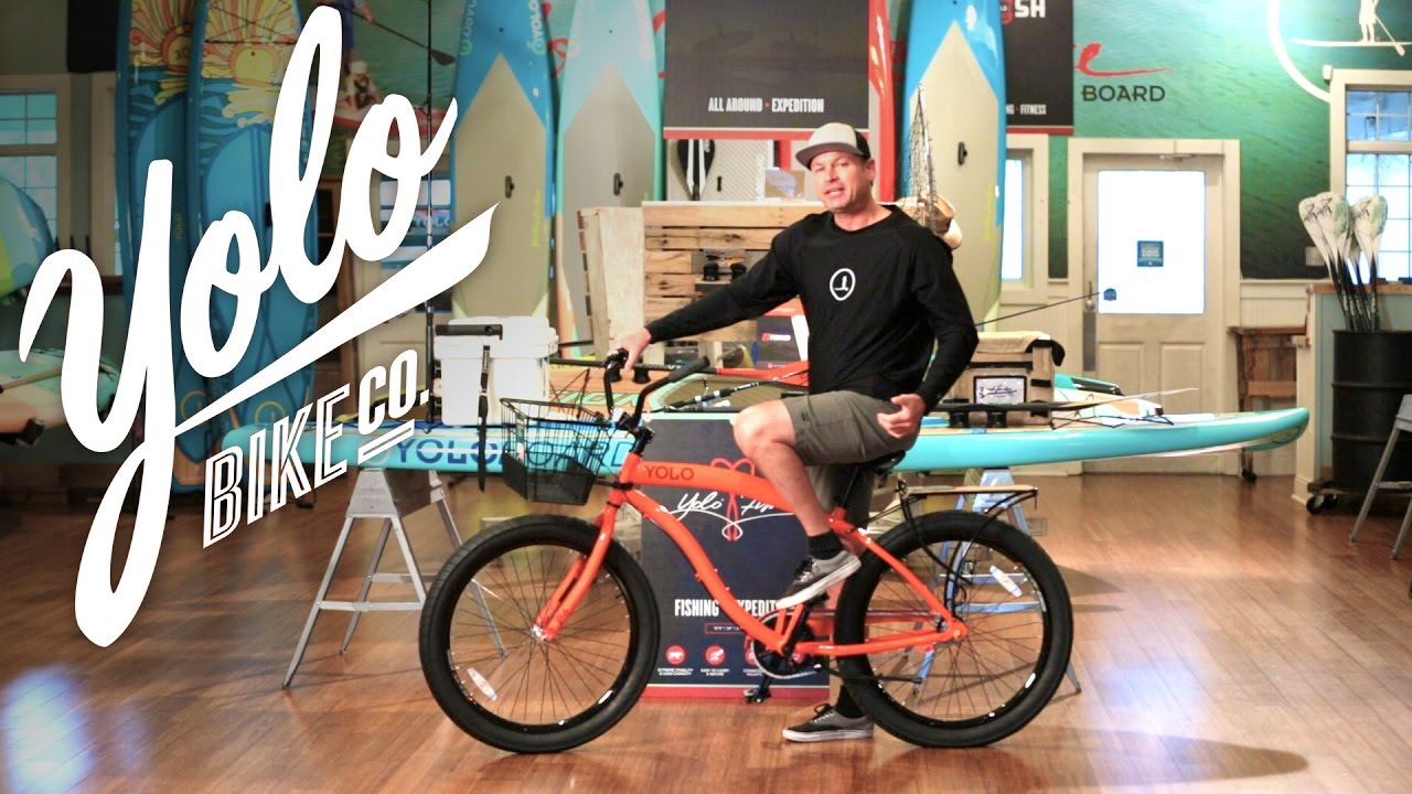 Yolo Beach Cruiser Bike Selecta 3 Speed Orange Youtube