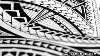 How to draw a Samoan tribal half-sleeve tattoo design