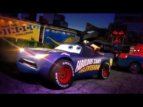 Cars 3 ½ -  Lightning McQueen interview - Spider-Truck