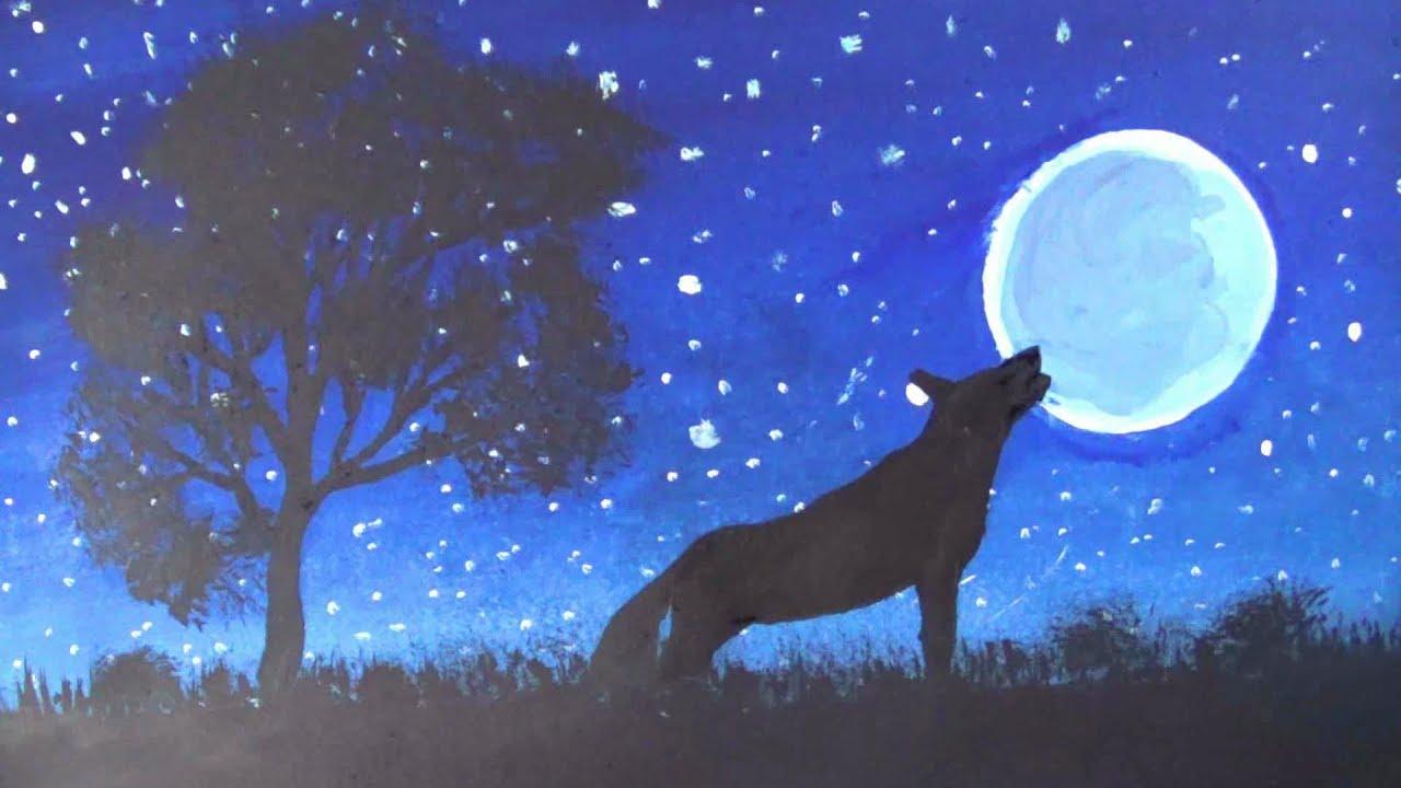 easy night scene paintings - photo #27