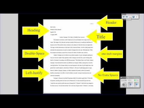 format of writing research paper