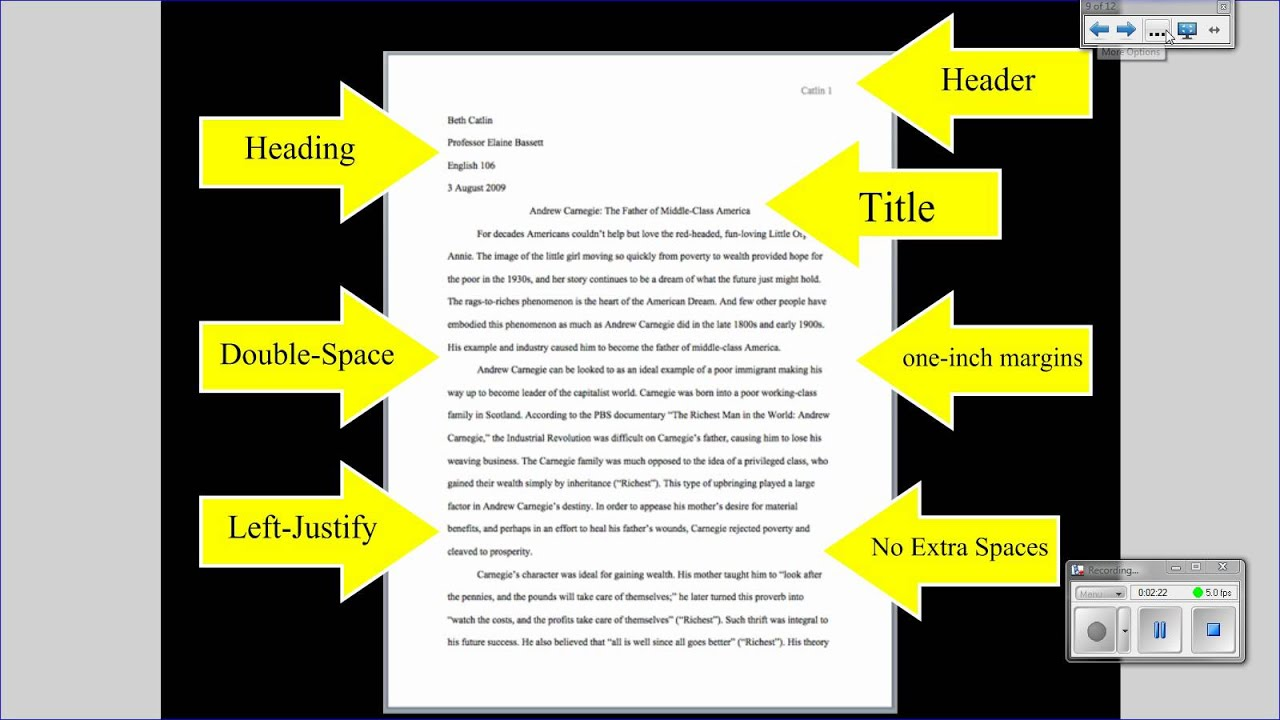 proper research paper format