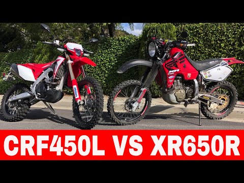 The Honda Crf450L vs XR650R #Honda #xr650r #crf450l