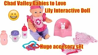 Chad Valley Babies to Love Lily Interactive Doll  WITH HUGE ACCESORY SET, AMAZING