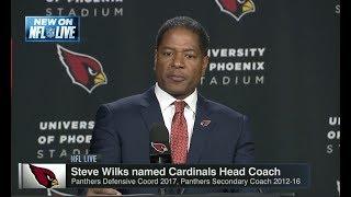 Steve Wilks Named Cardinals Head Coach | NFL Live | Jan 23, 2018