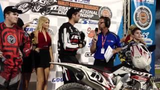 Johnny Lewis Wins Daytona Flat Track 1 - AMA Pro Flat Track Harley-Davidson Insurance GNC