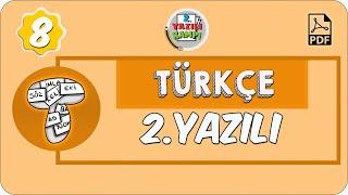 8. Sınıf Türkçe | 1. Dönem 2. Yazılıya Hazırlık