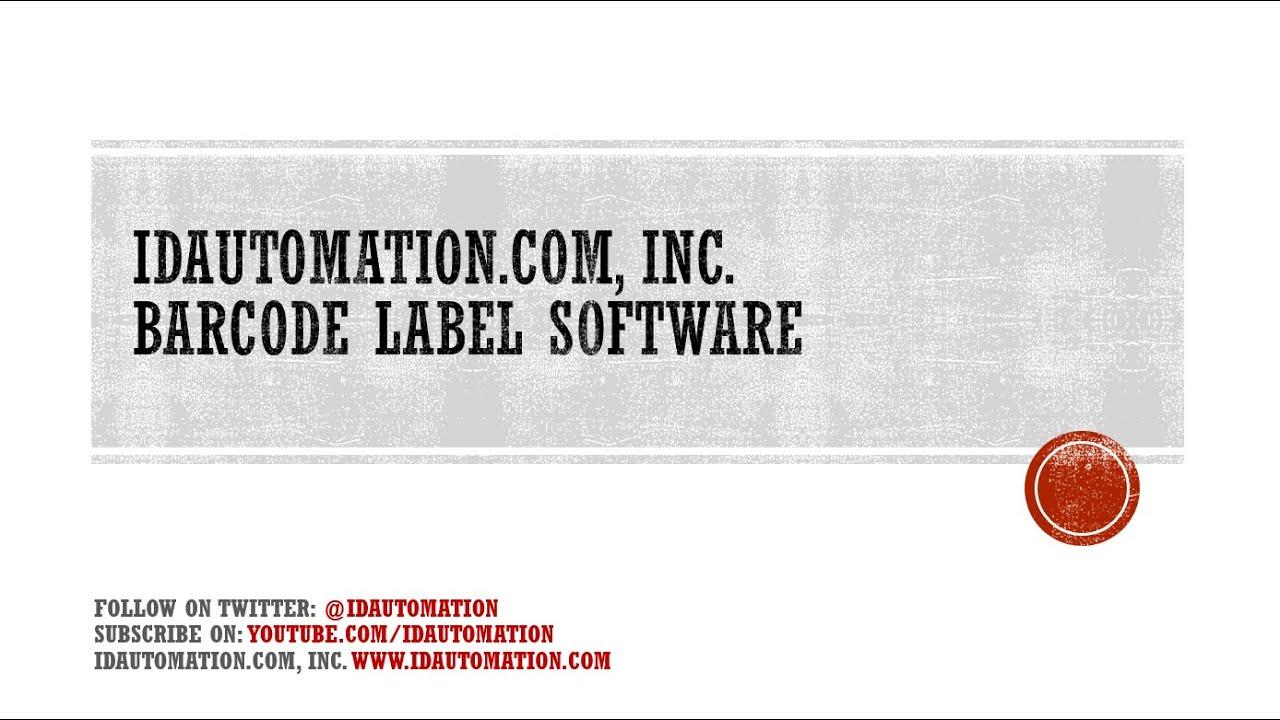 Idautomation barcode free download