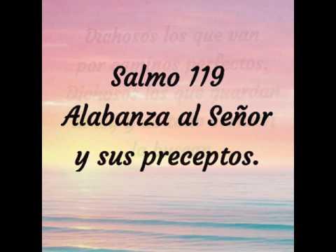 Salmo 119:  Alabanza al Señor y sus preceptos.