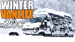 Winter Vanlife / How To Stay Warm Below Freezing!