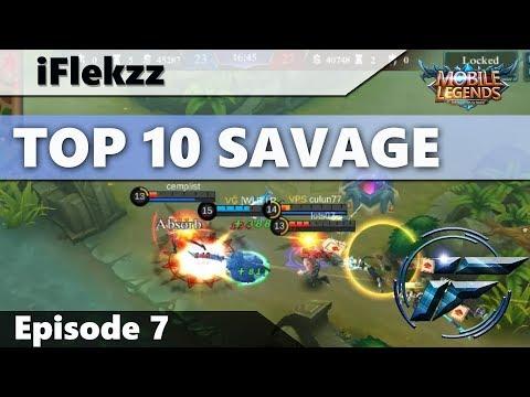 ALUCARD LIFESTEAL 1V5 SAVAGE?! TOP 10 SAVAGES #7 - MOBILE LEGENDS
