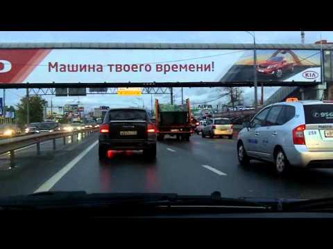Лобня - Химки - Ленинградка / Lobnya - Khimki - Leningradka 01/10/2011 (timelapse)