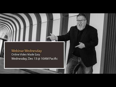 Online Video Made Easy - Webinar Replay