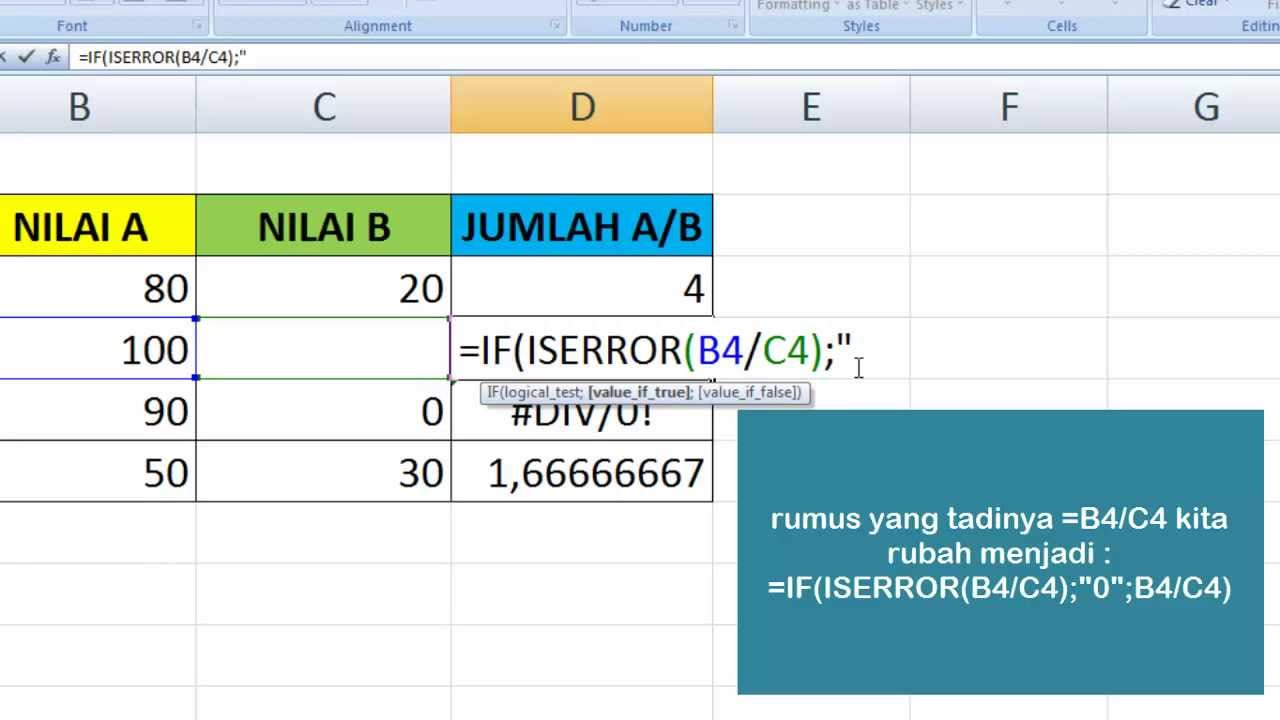 how to get rid of div 0 in excel