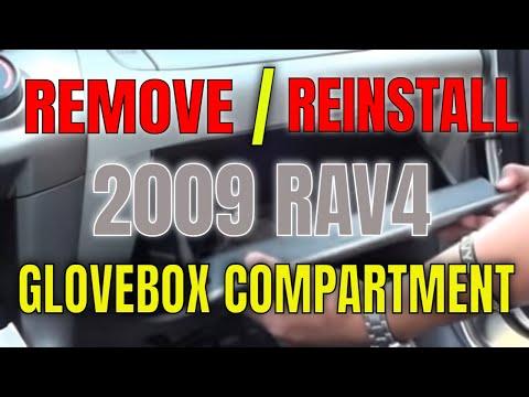 DIY RAV4 2009 Removing Glove Box - YouTube
