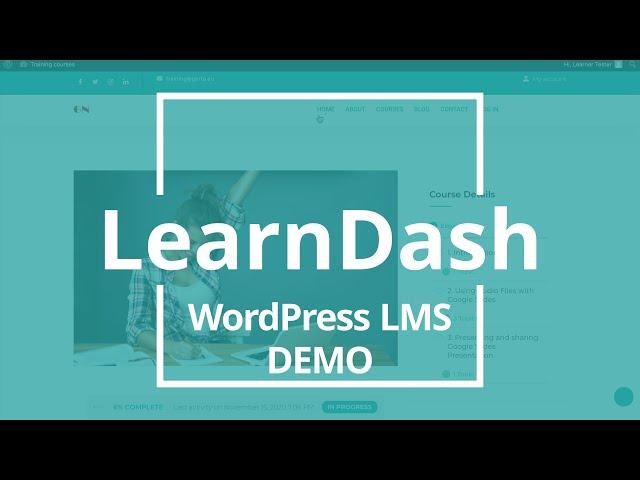 LearnDash LMS on WordPress website Demo