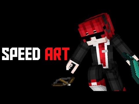 Speed Art Skin Minecraft 3D #1 //ทำครั้งแรกครับก้จะกากๆหน่อย