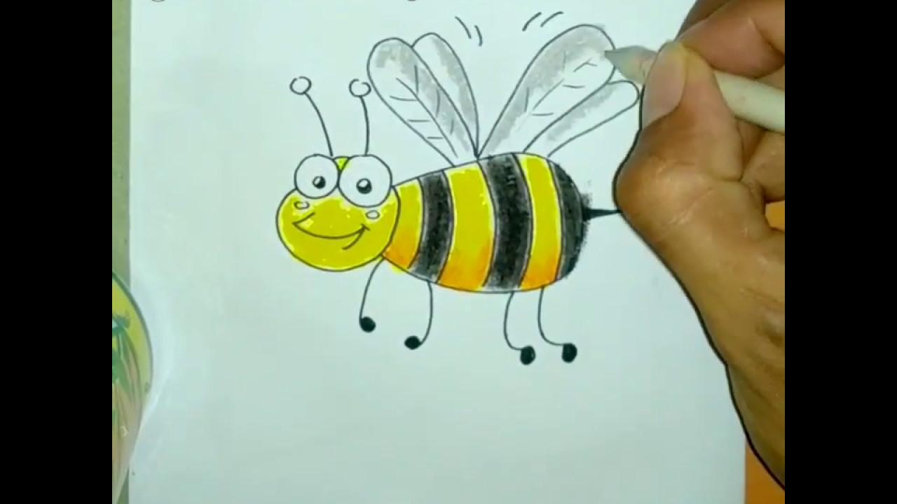 menggambar dan mewarnai lebah