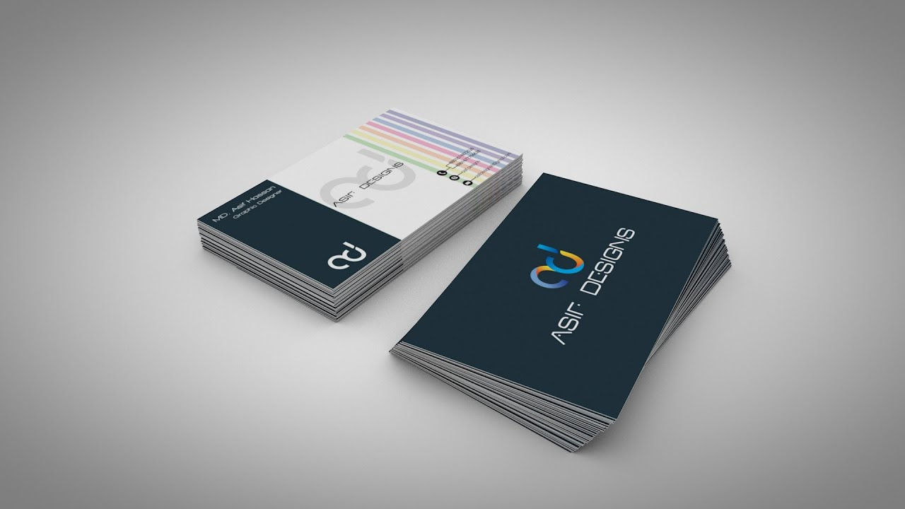 How to make Business Card mockup in c4d - YouTube